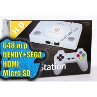SuperGame HDMI (648 игр Dendy+Sega. +microSD)