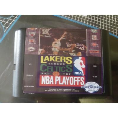 Картридж Sega 16 bit Lakers vs Celtics and the NBA Playoffs