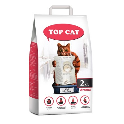 Наполнитель для кошачьего туалета мелкий 0,8-1,5 мм