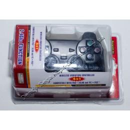Джойстик беспроводной для ПК, PS2 2,4G (красный бокс)