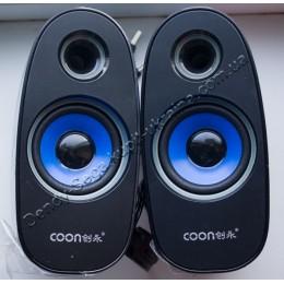 Колонки 2.0 для ноутбука и компьютера Coon Q6