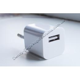 ЮСБ зарядка для телефона 1000 мАч (кубик)