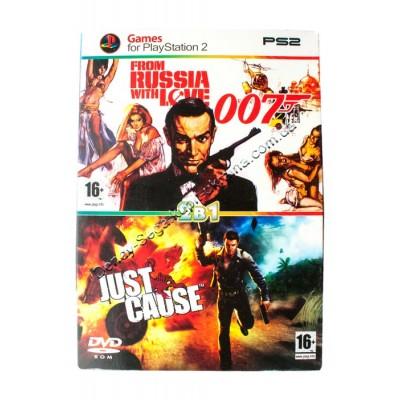 Диск PS-2 (2 в 1) James Bond 007/ Just Cause