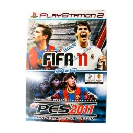 Диск PS-2 (2 в 1) Pro Eulution Soccer PES 2011/ FIFA 2011