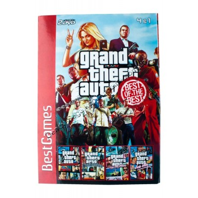 Диск PS-2 (4 в 1) GTA Grand Theft Auto Vice City/ San Andreas/ Liberty City