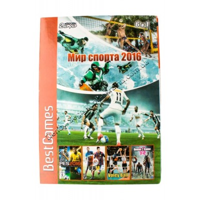 Диск PS-2 (6 в 1) Мир Спорта 2016 (PES 2016/ FIFA 2014/ SSX 3/ Outlaw Volleybal/ Bonus 2 Game Sport)