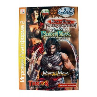 Диск PS-2 (4 в 1) Prince of Persia: Warrior Within/ Prince of Persia: The Sands of Time/ Prince of Persia: The Two Therones/ Turok: Evolution