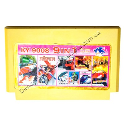 Картридж Dendy 8 bit City Connect/Exite Bike/F1 Hero-2/F1 Race/Ferrari/Machrider/Race America/Road Fighter