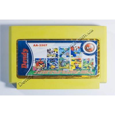 Картридж Dendy 8 bit Darkwing Duck/ Super Mario 1+11+14+16/ Dr. Mario/ Jungle Book