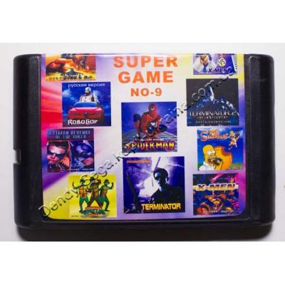 Картридж Sega Mega Drive 16 bit Batman Revenge Joker/ Terminator 1+2/ Robocop/ Rambo 3/ Spider Man and X Man/ Spider Man/ X Man/ Turtles/ Simpsons