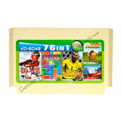 Картридж Dendy 8 bit Soccer Futbol/Galaxian/Kage of Legend/Tetris/Balloon Fighter