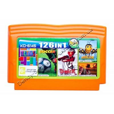 Картридж денди (126 в 1) Soccer/ Tetris / Wild Gun Man