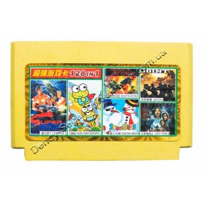 Супер Картридж карик денди (128 в 1) 128 разных игр Dendy  8 бит недорого по низкой цене!