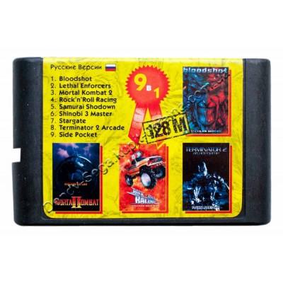 Картридж Sega 16 bit MK-2/ Bloodshot/ Lethal Enforcers/ Rockn Roll Racing