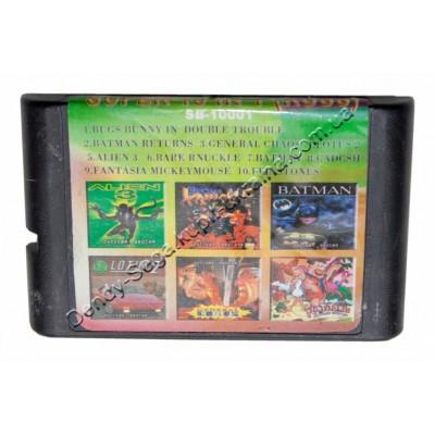 Картридж Sega 16 bit Alien 3/ Bugs Bunny/ Batman+ Return/ Flinstones/ Lotus-2