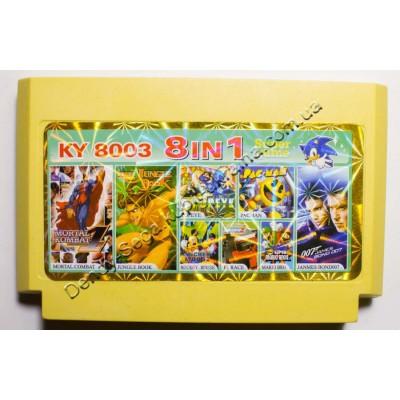 Картридж Dendy 8 bit Jungle Book, MK4, James Bond 007, F1 Race, Pac Man, Popaye, Mickey Mouse, Mario Bros