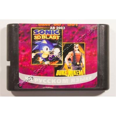 Картридж Sega Mega Drive 16 bit Sonic 3D Blast/ Duck Name 3D