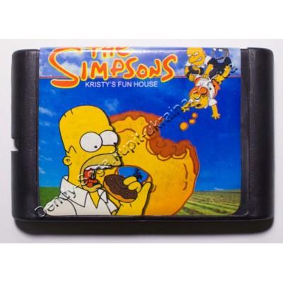 Картридж Sega Mega Drive 16 bit Simsons Kristys fun House (Симпсоны)