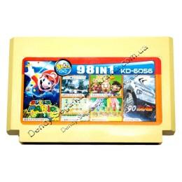 Картридж денди (98 в 1) Tank 90/ Galaxian/ Super Mario/ Lode Runer/ Exite Bike