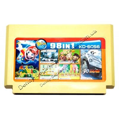 Картридж Dendy 8 bit Tank 90/Galaxian/Super Mario/Lode Runer/Exite Bike