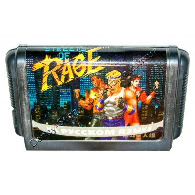 Картридж Sega 16 bit Streets of Rage (Bare Knuckle) Уличные бои