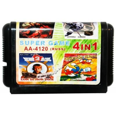 Картридж Sega 16 bit Dynamite Duke/ Hockey/ Home Alon-2/ Quack Shot