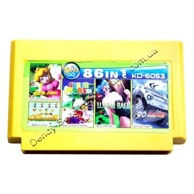 Картридж Dendy 8 bit Adventure Island/Tank 90/Super Mario/Galaxian/Lunar Ball