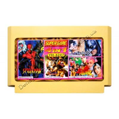 Картридж Dendy 8 bit Batman/SD Fighter/Spiderman/Street Fighter