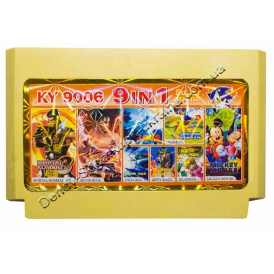 Картридж Dendy 8 bit MK3, SD Fighter, Adventure Island, Zippy Race, Twin Bee, 1942, Digimon, Mickey Mouse
