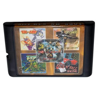 Картридж Sega 16 bit 5 в 1 MK-3:U/ Rockn Roll/ Dune
