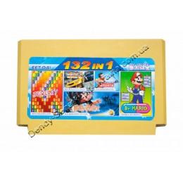 Картридж денди (132 в 1) Dr Mario/ Zippy Race/ Badminton