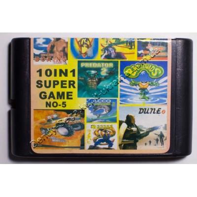 Картридж Sega Mega Drive 16 bit Zombies ate my Neighbors/ Rockn Roll Racing/ Battletoads/ Taz Mania/ Mickey: Castle of Illusion/ Predator 2/ Ecco/ Dune 2/ Second Samurai