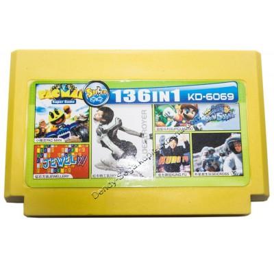 Картридж Dendy 8 bit Super Mario/Tetris/Sky Destroyer/Kung Fu