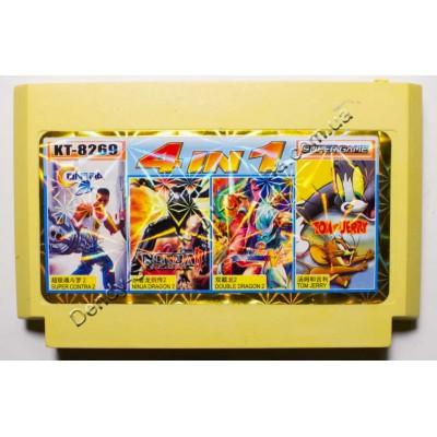 Картридж Dendy 8 bit Contra 2, Double Dragon 2, Ninja Dragon 2, Tom Jerry