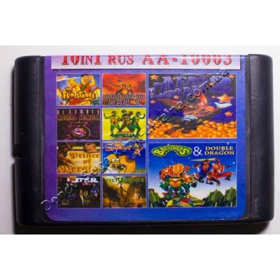 Картридж Sega Mega Drive 16 bit Battletoads 2/ MK3U/ Vectorman 2/ Turtles/ Golden Axe 3/ Flinstones/ Aero Acrobat 2/ Prince of Persia/ Simpsons/ Stargate