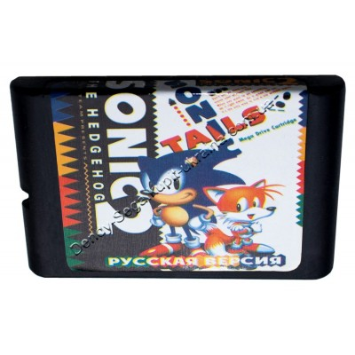 Картридж Sega 16 bit Sonic 2 (Соник-2)