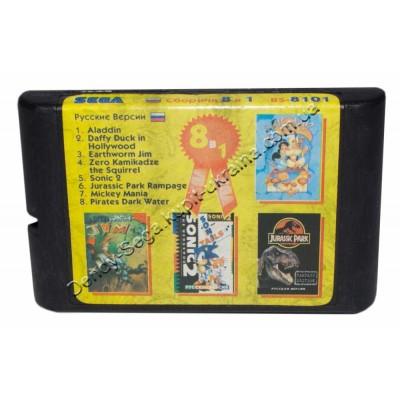 Картридж (в коробке) Sega Mega Drive 16 bit Aladdin/ Daffy/ Earthoworm Jim