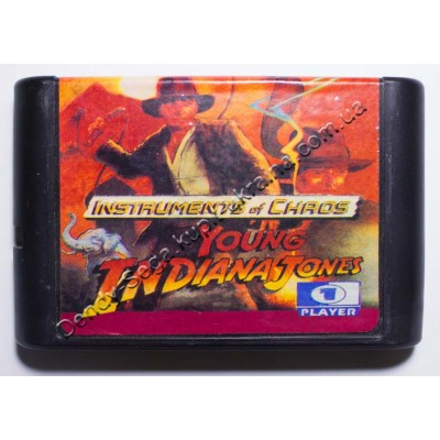 Картридж Sega Mega Drive 16 bit Indiana Jons Instrument Chaos