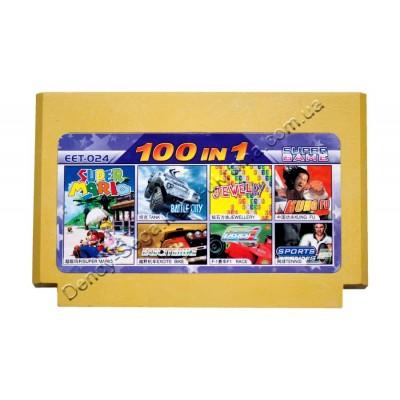 Картридж Dendy 8 bit Battle City/Super Mario/F1 Race/Jewelry