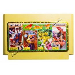 Картридж денди Chip Dail 2/ Adventure Island/ Mortal Combat 4/ Ferrari