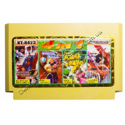 Картридж Dendy 8 bit Chip Dail 2, Adventure Island, Mortal Combat 4, Ferrari