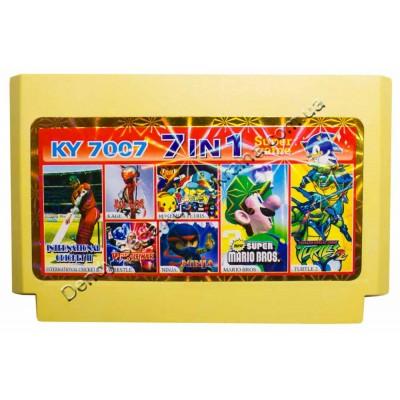 Картридж Dendy 8 bit Turtles 2, Mario Bros, Ninja, Cricket, Wrestle, Pockemon Tetris, Kage