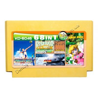 Картридж Dendy 8 bit Tank 90 /Adventure Island /Valley ball