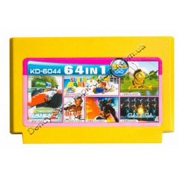 Картридж денди (64 в 1)  Super Mario/ Galaxian/ Galaga