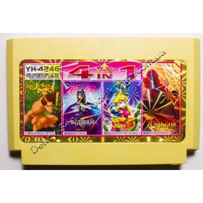 Картридж Dendy 8 bit Jungle Book, Batman, Adventure Island 3, Spiderman
