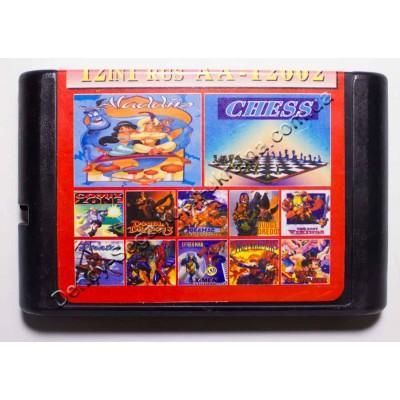 Картридж Sega Mega Drive 16 bit Aladdin/ Comix Zone/ Double Dragon 3/ Joe Mac/ Judge Dredd/ Lost Vikings/ Spider Man and X Man/ Spider Man: Separacion Anxiety/ Suset Riders/ Mickey: World of Illusion/ Chess