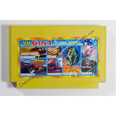 Картридж Dendy 8 bit F1 Race, Mach Rider, Zippy Race, City, Road Fighter, Execite Bike