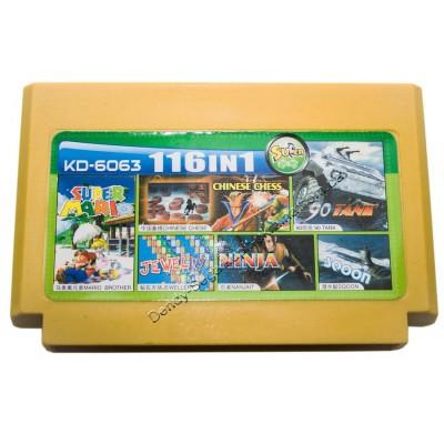 Картридж Dendy 8 bit Tank 90/Tetris/Mario Brother