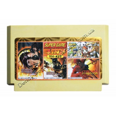 Картридж Dendy 8 bit Mortal Kombat-4-5/Spiderman/Adventure Island