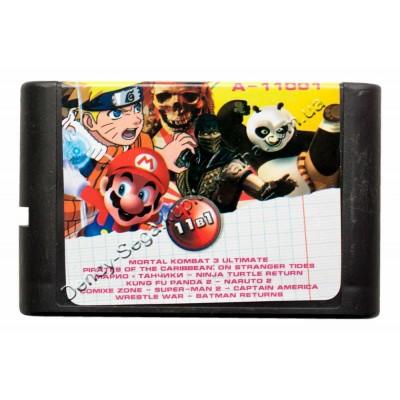 Картридж Sega 16 bit Super Mario (Dendy)/ Tanki (Dendy)/ MK-3-U